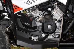 Der Zweizylinder: Der Rotax liefert satten Durchzug bei kontrollierbarer Leistung. Das potente Triebwerk bringt den Renegade voran, schont aber dabei die Kondition.