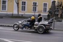 Miss Daisy und ihr Chauffeur: Sozia Katrin genießt die entspannte Sitzposition.