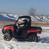 Spaß im winterlichen Tagebau.