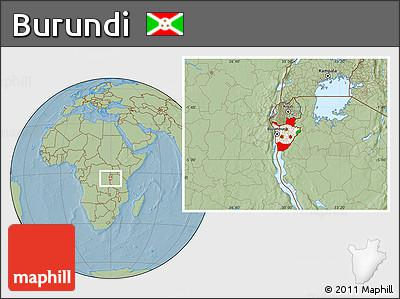 location map of Burundi,