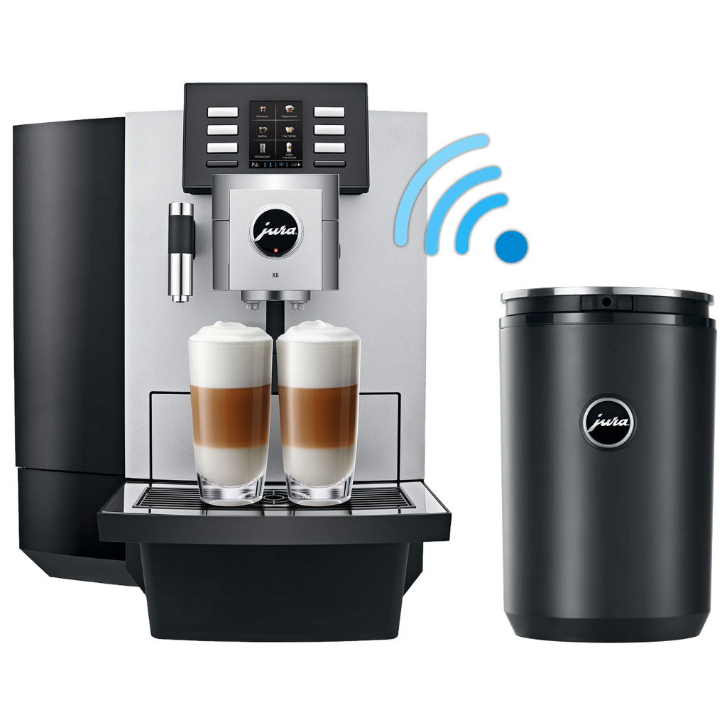 Jura X8 with 1 litre cool control and wireless connector – Quaffee