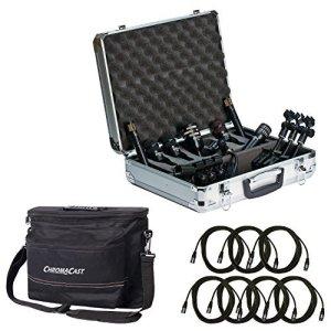 Audix Dp77pièces tambour Mic Package avec 7Chromacast 18.5'Câbles pour microphone et musicien de Gear Sac
