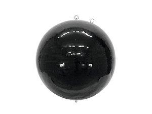 Boule disco NOIR avec de véritables facettes de miroir en verre, Ø 75 cm, noir – Boule disco géante / Décoration soirée – showking