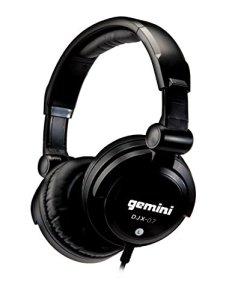 Gemini DJX-07 Casque DJ professionnel avec sacoche/oreillettes de rechange Noir