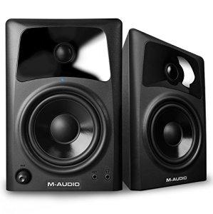 M-Audio AV 42 Paire d'Enceintes de Monitoring Actives Compactes 40W – Système Audio Mac et PC de Référence pour Création Multimédia