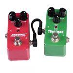 Rayzm câble patch guitare, câble de jonction pour instruments 6,35mm pour pédales d'effets pour guitare/basse, câbles de jonction pour pédales 5cm (lot de 6, noir)