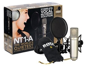 Kit RODE NT1-A Complete Vocal Recording – 1″ Cardioid Condenser Microphone + SM6 Shock Mount with Detachable Pop Filter