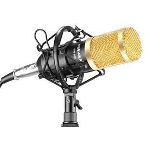 Neewer NW-800 Microphone Enregistrement Studio Radio Kit Inclus (1) Microphone à Condensateur Professionel Noir + (1) Support de Microphone Antichoc + (1) Bouchon Anti-Vent en Mousse + (1) Câble d'Alimentation