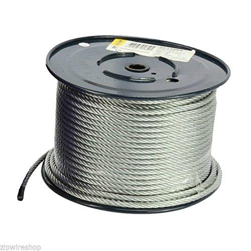 Generic. CABL câble métallique SED 8mm ZI 8mm câble zip Stra Couverture 7x 19brins 50m O galvanisé Ine Mèche tyrolienne