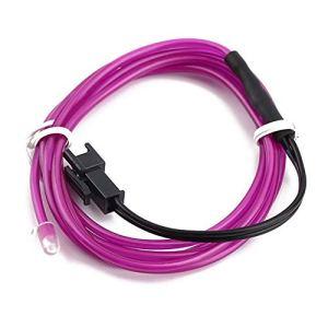 1 mètre coloré flexible câble EL fil corde corde néon lumière lueur voiture partie extérieure accessoires essentiels – Violet