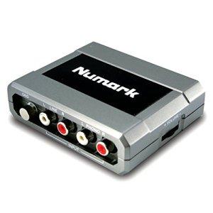 Numark STEREO iO – Interface DJ Audio USB, Connexion USB en Plug-And-Play Compatible avec Mac et PC, Logiciel EZ Vinyl/Tape Converter en Téléchargement