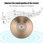 Garsent Disque de stabilisateur de Disque Vinyle, Pince de Poids Record en Aluminium pour Disque Audio de qualité supérieure(Or)