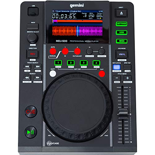 Lecteur CD Gemini mdj-500Slot MP3USB Disp.LCD