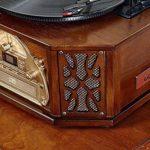 KSW_KKW Européenne Big Horn phonographe, Brass Bighorn phonographe Retro Vinyl Record du Joueur démodées en Bois Massif phonographes Salon Audio