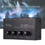 Muslady MX400 Ultra-compact Faible bruit Ligne 4 canaux Mono Audio Mixer avec adaptateur secteur