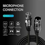 LinkinPerk Câble de microphone XLR mâle vers femelle 15M/50FT