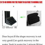 16 pièces en mousse acoustique noire pour piège à basse 11,4 x 11,4 x 24 cm