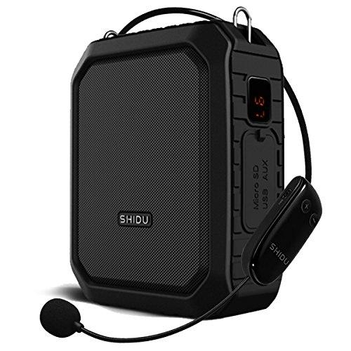 Amplificateur de voix sans fil Bluetooth 18 W 4 400 mAh étanche Amplificateur de microphone Megaphone portable Enceinte Voice Amplfiier pour professeur, guide touristique, promoteurs, etc.