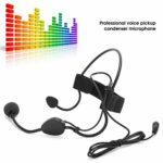 Bindpo Mini Microphone, Microphone à condensateur à Crochet d'oreille de 3,5 mm, Serre-tête Anti-Transpiration, Microphone Filaire pour Enseignants, Guides, conférenciers