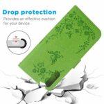 Étui de protection à rabat en cuir pour Samsung Galaxy A50 vert