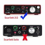 pour Focusrite Scarlett 2i2 (2nd Gen) USB Interfaces audio Voyage Stockage Porter Étui Housse de CO2CREA