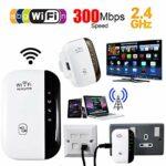 Lilon Répéteur WiFi sans fil 2,4 G avec antenne LAN intégrée, amplificateur de signal 300 Mbit/s du routeur sans fil Prend en charge le répéteur/point d'accès