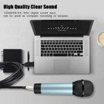 Rosvola Câble de Microphone XLR Femelle vers USB, câble USB USB1.1/2.0 XLR Femelle, AY12 Plug and Play Noir pour hôte Xbox