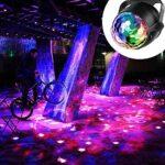 Yizhet Lampe de Scène, Boule Disco de Commande Vocale RGB Couleur Lumière Fête Commande Sonore Mini Projecteur Boule Cristal avec Télécommande pour Scène Fête Soirée DJ Disco Bars Clubs Karaoké