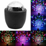 ZIRAN Mini lumière de scène à LED Son actionné Multicolore Boule Disco Effet Magique Lampe 3W USB Effet de scène lumière Abs