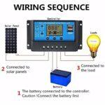 Elégant régulateur de lumière solaire 12 V/24 V avec écran 10 A 65 A 20a