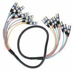 Câble de serpent XLR efficace pour connecteur de cordon audio d'extension(blue, 1.5 fans)