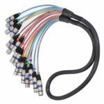 Câble de serpent XLR rallonge de tête équilibrée durable connecteur de cordon Audio pratique pour un usage professionnel pour les femmes(blue, 1.5 fans)
