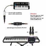 Câble USB MIDI EBXYA USB vers MIDI Interface MiDi In-Out Convertisseur de musique pour PC/Mac/ordinateur portable 1,5 m