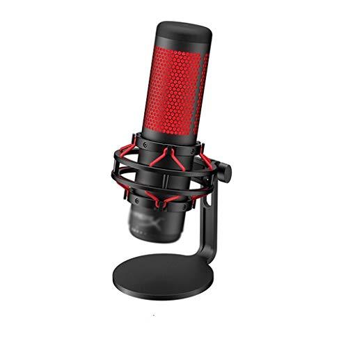 TWDYC pour Microphone de Jeu électronique Professionnel Ordinateur Sports Microphone en Direct Dispositif de Microphone Rouge
