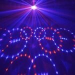 Beamz MINI STAR BALL 6X LEDS 3 W RGBWAP, Boule Disco, Jeu de lumières multicolore, Télécommande, Contrôle musical, Plafond/Mur, Rotation Automatique/Rythmée