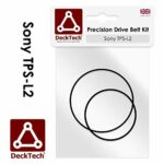 DeckTech Kit de courroie d'entraînement de rechange compatible avec les lecteurs cassette Sony TPS-L2 TPSL2 TPS L2 (courroie de rechange en caoutchouc)