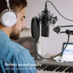 FIFINE Kit de Microphone de Streaming USB, Micro de Studio à condensateur avec Support de Bras et Filtre Anti-Pop pour Enregistrement Vocal de Micro – K780
