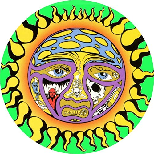 Slipmat Tapis antidérapant en feutre pour platine vinyle LP DJ 30,5 cm Motif Sublime Sun