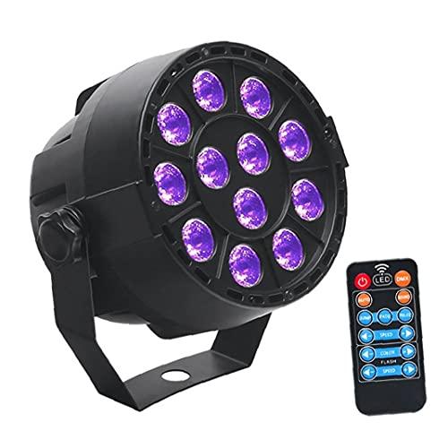 TongICheng LED de scène, UV Noir par Lampe, uplighting Lumières avec Son Activated Violet 12LED Télécommande pour Disco Party