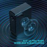 BOMAKER Barre de Son 240W, 2.1 Soundbar avec Subwoofer sans Fil, Dolby Audio, 3D Surround Home Cinéma, 4K Ultra HD pour TV, 0.5% THD, Compatible avec HDMI Arc/Optique/RCA/AUX