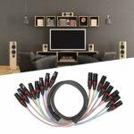 Câble Audio XLR, câble de Signal Audio Durable de 1,5 m PVC 8 canaux Flexible pour mélangeur pour amplificateur de Puissance
