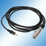 Caiqinlen Câble de Microphone, câble de Micro F/M Connecteur XLR Câble de Microphone F/M pour connecter Un Micro Canon à Une caméra Dv pour Un rejet EMI et RFI Efficace