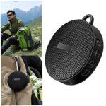 Cyclisme Haut-parleur Bluetooth Haut-parleur sans fil Haut-parleur vélo extérieur mini portable étanche pour vélo extérieur Noir Clarté extraordinaire