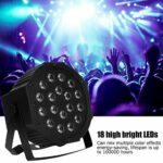 Lampe de scène, lumière de soirée DJ, lumière de scène à LED avec 18 LED haute luminosité équipées de deux supports, flexible et simple à économie d'énergie. pour la maison de barre(Transl)