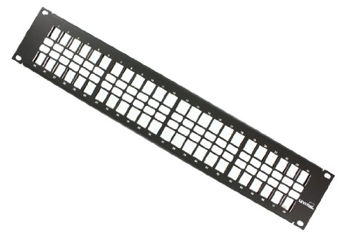 Leviton QuickPort Flat Panel Barre de gestion de câble inclus, 49255-H48