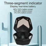 Limouyin Écouteurs sans Fil Bluetooth, écouteurs de Jeu Bluetooth MD188, Suppression du Bruit des écouteurs TWS avec Lumière Respiratoire Colorée, écouteurs Bluetooth 5.1((Noir))