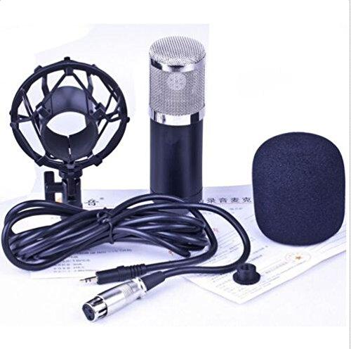 Microphone professionnel à condensateur cardioïde pour enregistrement cardioïde 4 radiodiffusion Noir