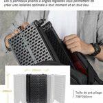 """Moman-RF30-Bouclier-d'isolation-de-Microphone, Filtre de Réflexion du Micro avec Support de Filetage Micro 3/8 """" pour Enregistrement en Studio Utiliser sur le Bureau"""