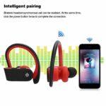 PUSOKEI Écouteurs sans Fil Sport, écouteurs Intra-Auriculaires Bluetooth 10 M, écouteurs Stéréo Longue Veille Rechargeables HiFi, pour la Course/randonnée/Jogging