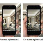 Réglette led 60cm 9W – néon led blanc froid avec double connexion – lumière led néon mural cuisine garage cave atelier (60cm)